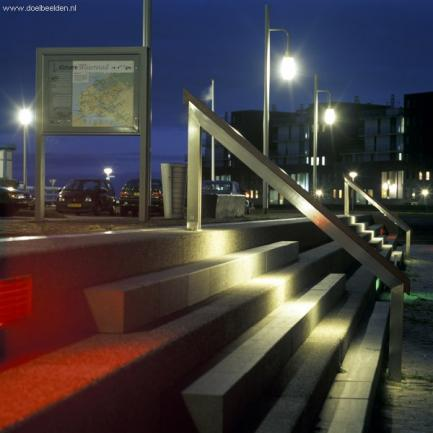 Outsidestyle and lighting, Almere haven, the Netherlands, design by ipv Delft