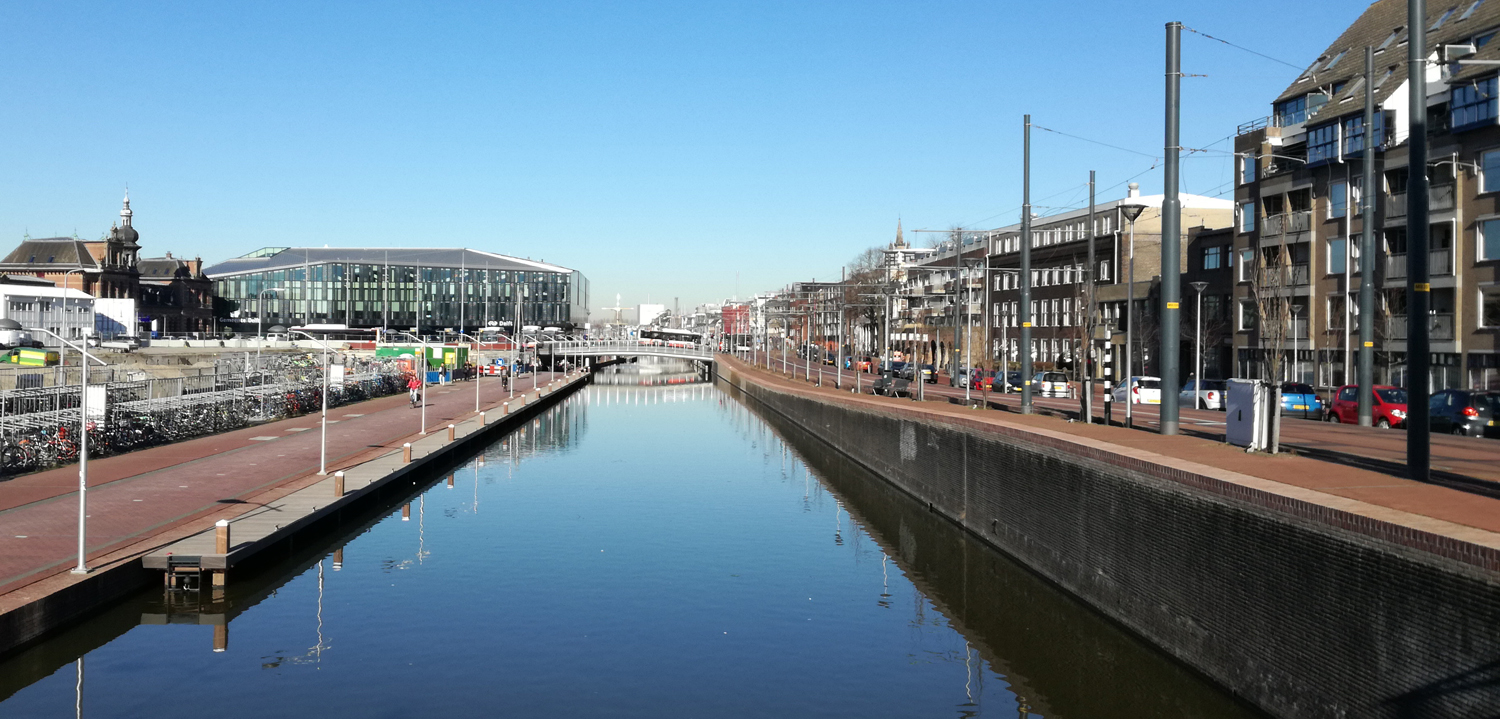 composite pier, jetty Delft city centre Bureau Stoep