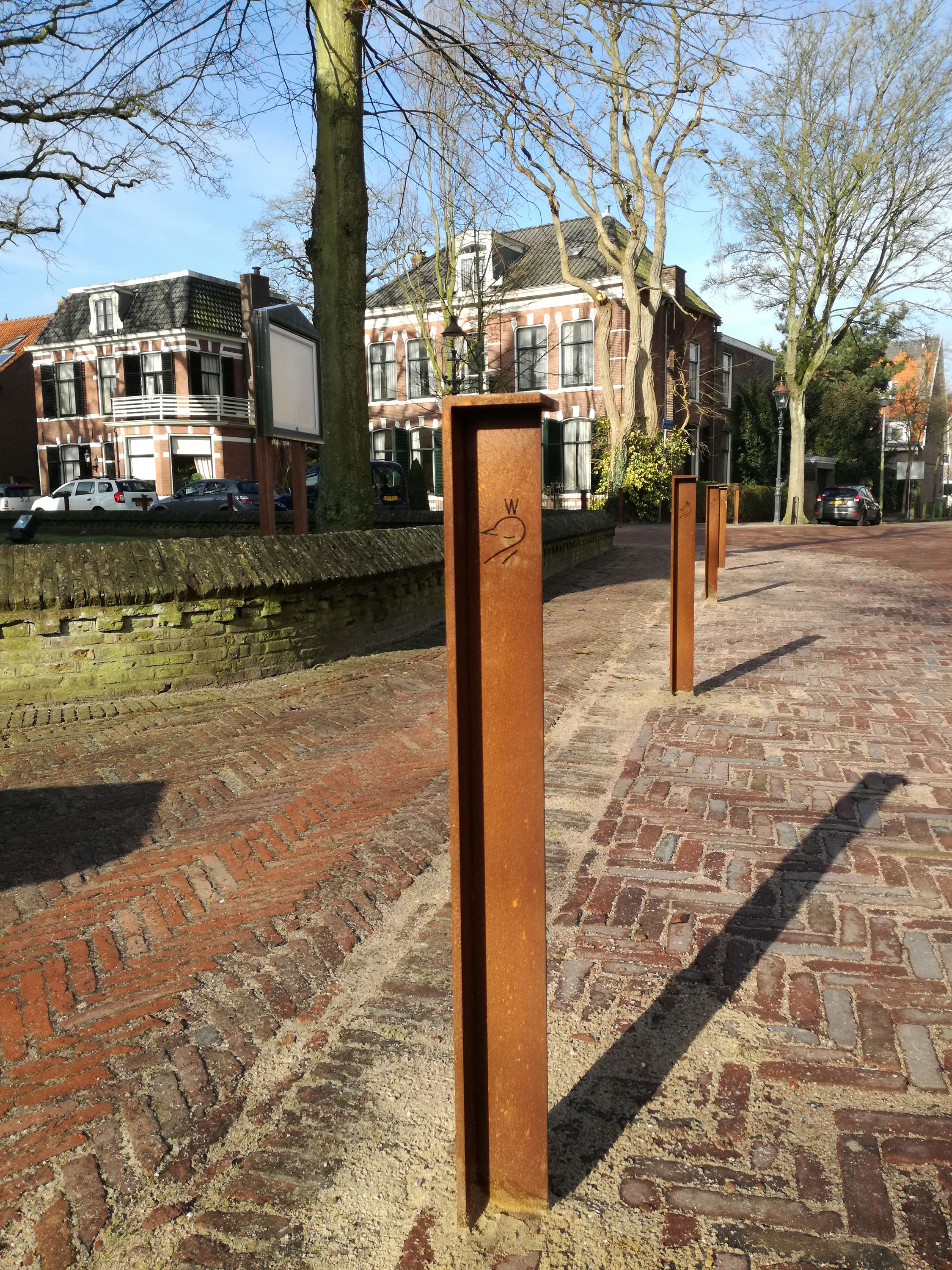 anti parking pole Heemstede Bureau Stoep